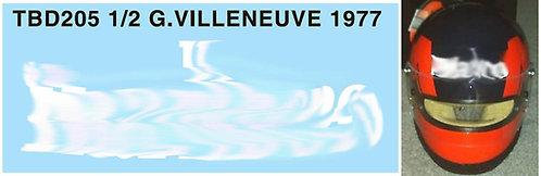 1/2 GILLES VILLENEUVE 1977 HELMET BELL MINI TBD205