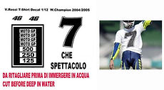 1/12 VALENTINO ROSSI FIGURE T SHIRT 2004 2005 DECALS TB DECAL TBD25