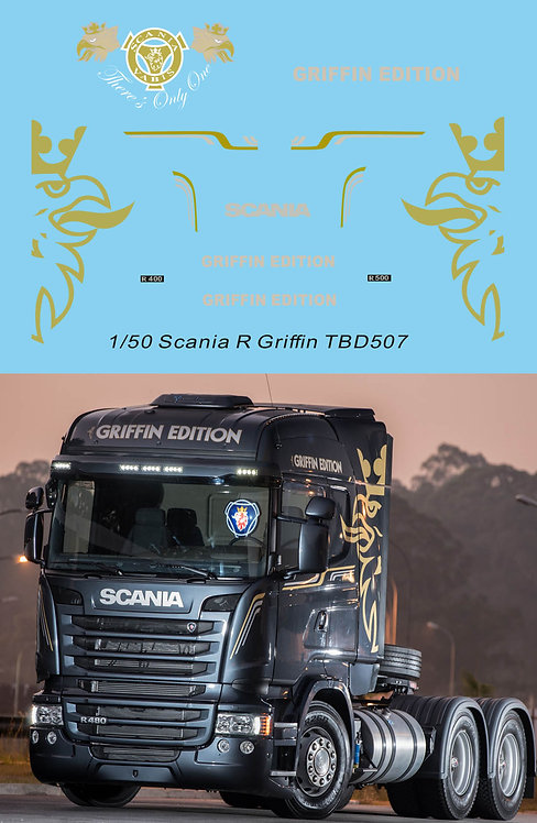1/50 Decals Griffin Edition Livery  for Scania  TB Decal TBD507