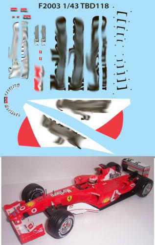 1/43 FERRARI F1 F2003 MICHAEL SCHUMACHER TBD118