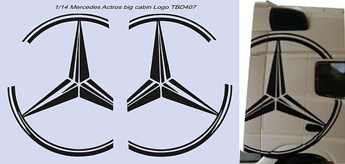 1/14 Merceds Actros big Cabin Logo  Decals TB Decal TBD407