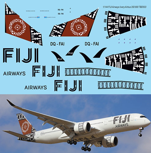 1/144 FIJI Airlines Livery Decals for Airbus A350 900  TB Decal TBD503