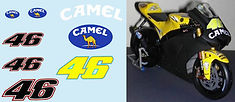 1/12 CAMEL VALENTINO ROSSI TEST BIKE SEPANG 2006 YAMAHA M1 DECALS TB DECAL TBD33