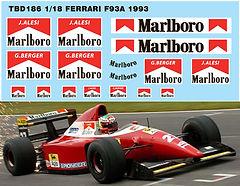1/18  MARLBORO FERRARI F93A F1 1993 SPONSOR DECALS TB DECAL TBD186