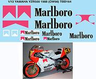 1/12 MARLBOROR YAMAHA YZR500 1988 (OW98) FOR HASEGAWA DECALS TB DECAL TBD164