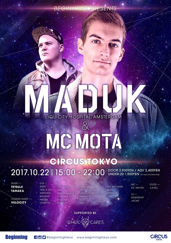 Beginning presents Maduk & MC Mota Tokyo Show