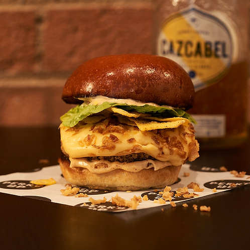 WEDNESDAY 5TH (6PM SLOT): Honey Tequila Nacho Burger (Veggie)