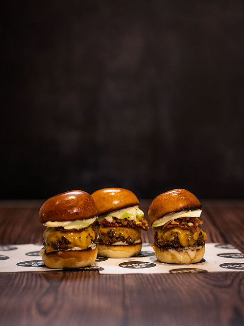 12 X Perk'd Up Bacon Cheeseburger Sliders