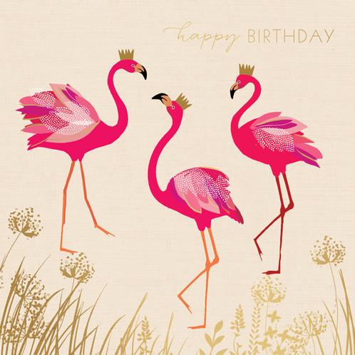 Happy Birthday Flamingo Card Sara Miller London – Free Delivery Birthday Cards
