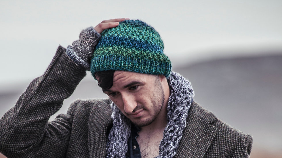 Mans shades of green Net Beanie