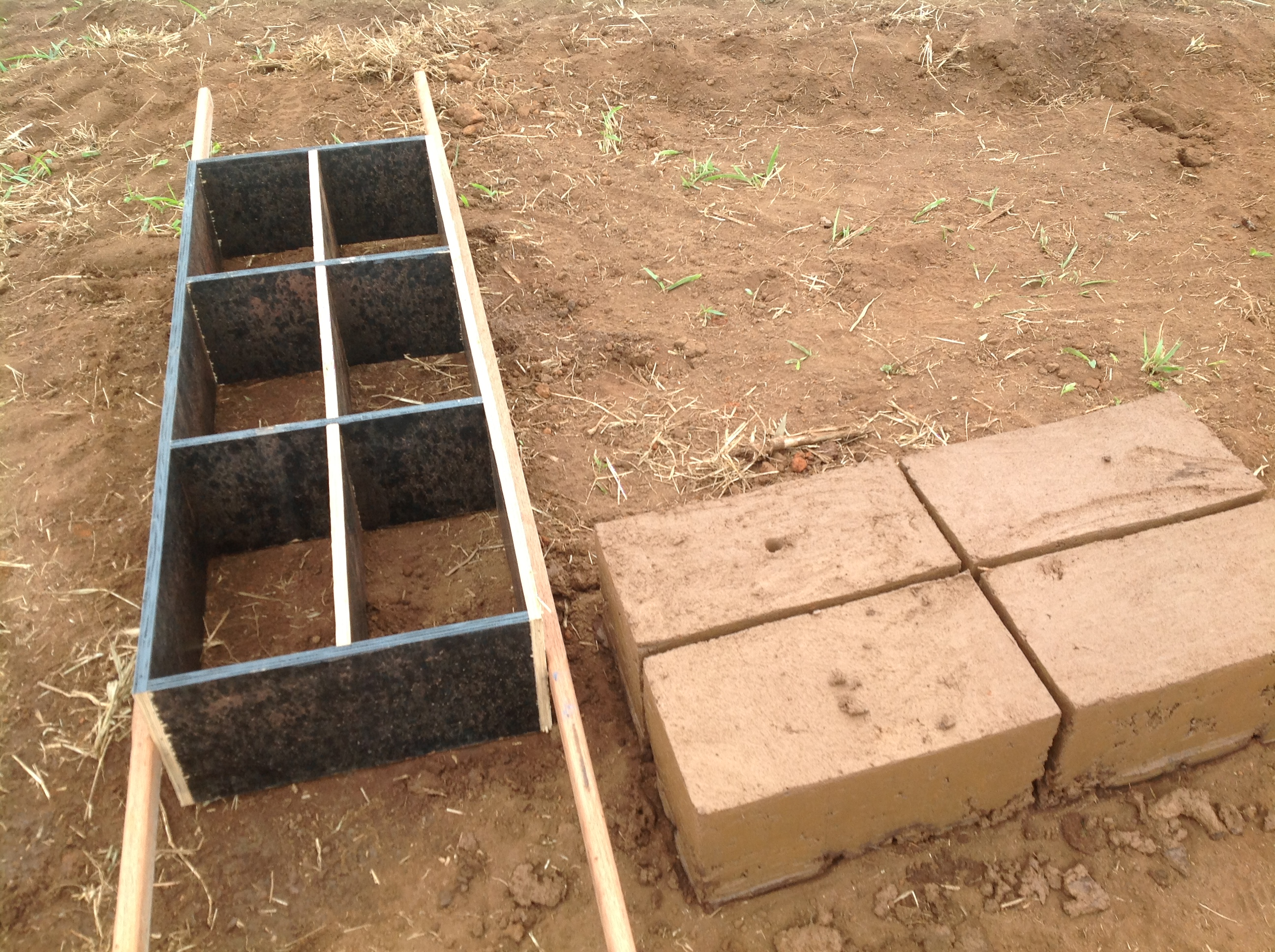 forma de tijolo de adobe