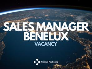Vacancy: Sales Manager Benelux