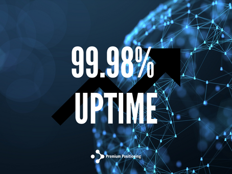 99,98% up time in 2020.