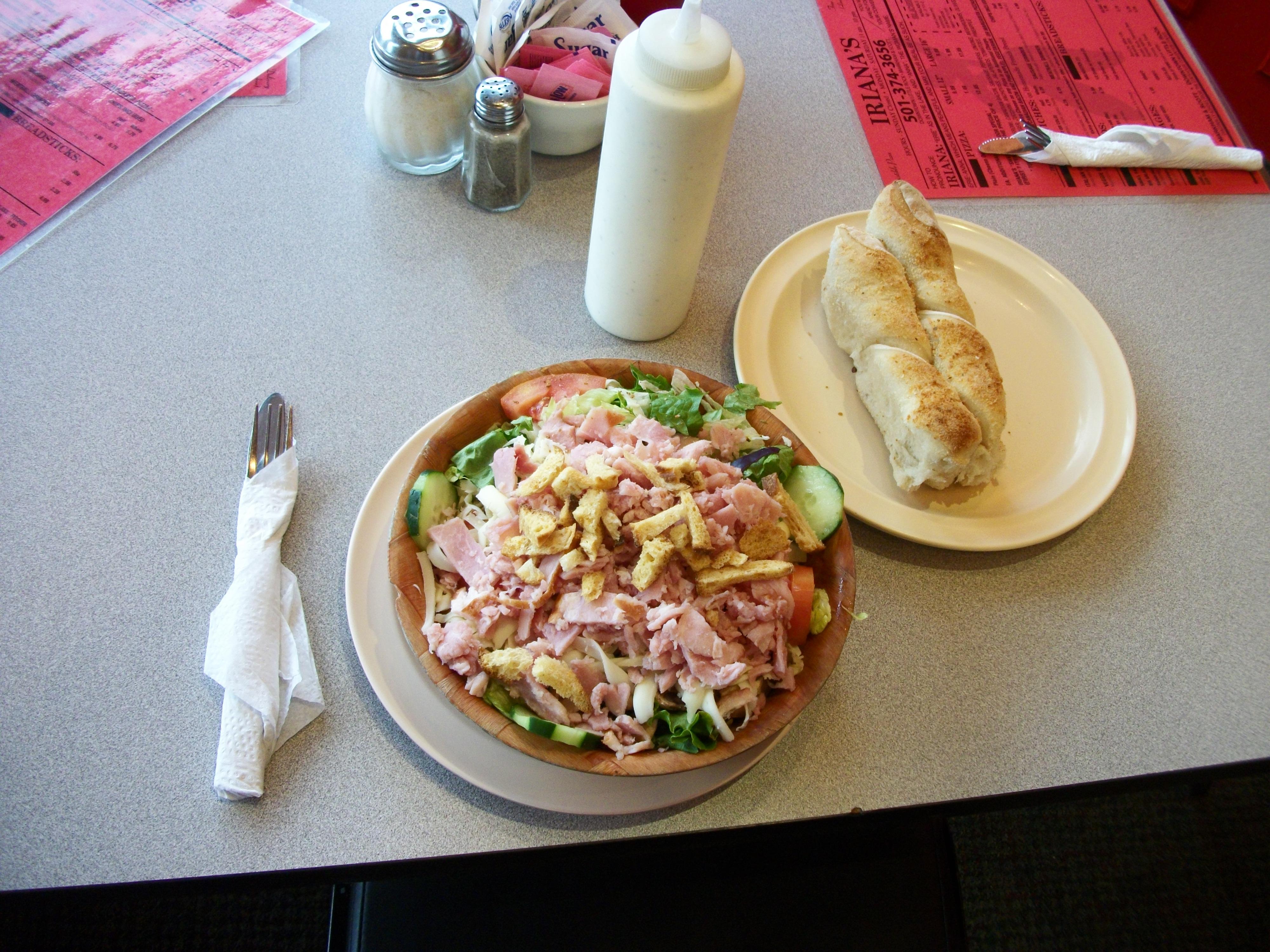 Big Salad with Ham added