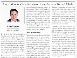 What it takes to WIN in today's hot San Francisco Real Estate Market.