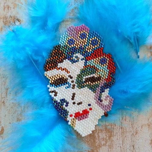 תכשיטים בעבודת יד, תכשיט ייחודי, שרשרת נוכחות, תכשיט צבעוני, שרשרת צבעונית, שרשרת מסיכה, מסיכה ונציה, תכשיט השראה