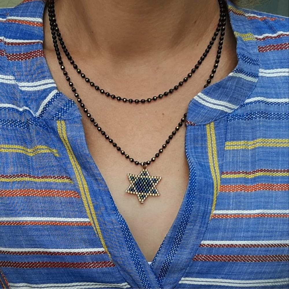שרשרת מגן דוד, תכשיט מגן דוד, מתנה ישראלית, תכשיט משמעות