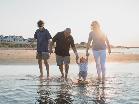 Family Photos at East Beach, Norfolk I  Beach Golden Hour
