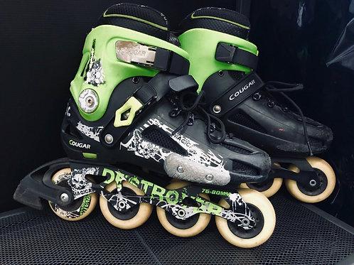 Destroyer Rollerblades - Green Accented Black Skates