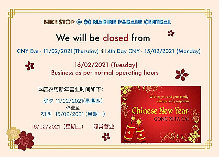 CNY2021 Bike Stop Operating Hours (80 Ma