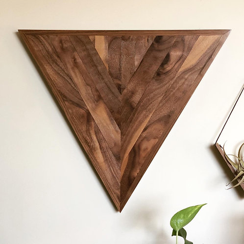 Walnut Wall Art - Triangle
