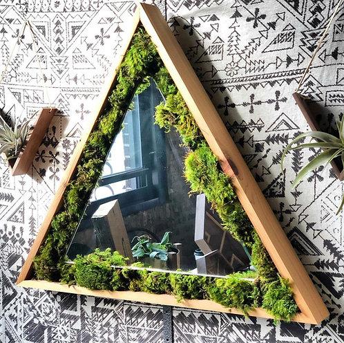 Triangle Moss Mirror