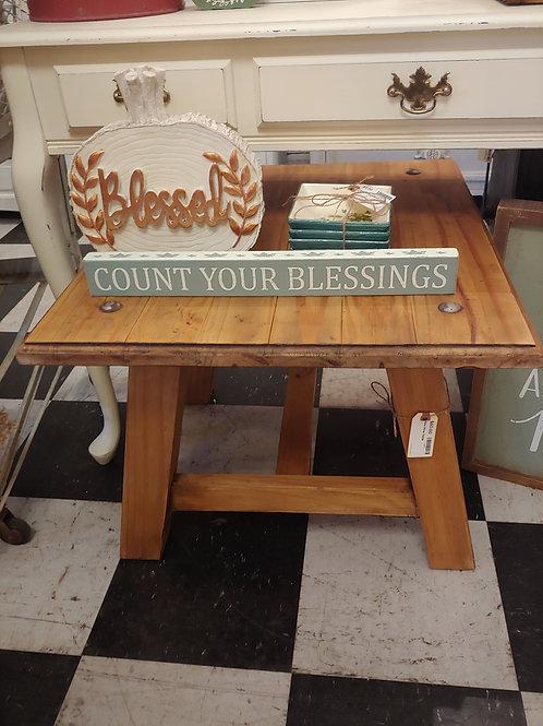 Vintage Raw Pine Table