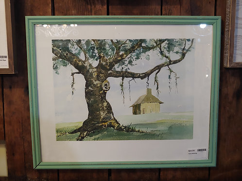 Barn Watercolor Painting