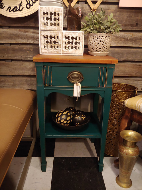 Vintage End Table- Emerald.