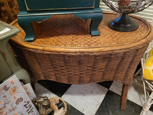 Wicker Table/Bench