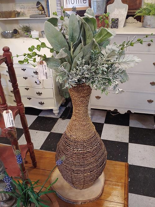 Oversized Vase with Greenery Stems