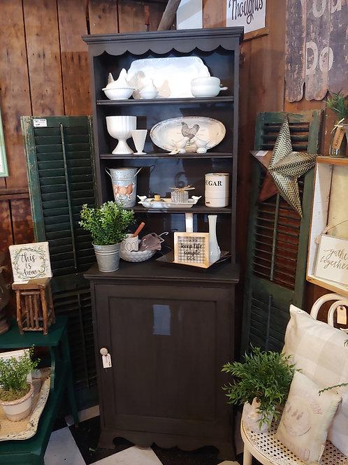 Vintage Black Shelf/Hutch