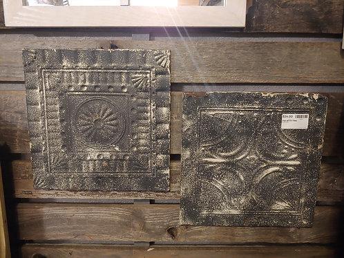 Pair of Tin Tiles