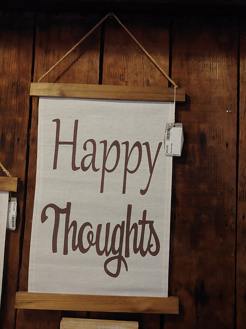 Hanger Sign- Happy Thoughts