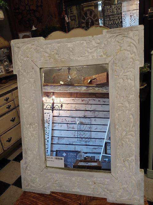 White Boho Mirror