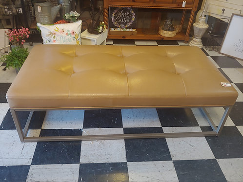 SALE Oversized Leather Bench