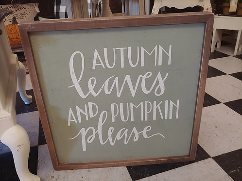 Oversized Fall Sign