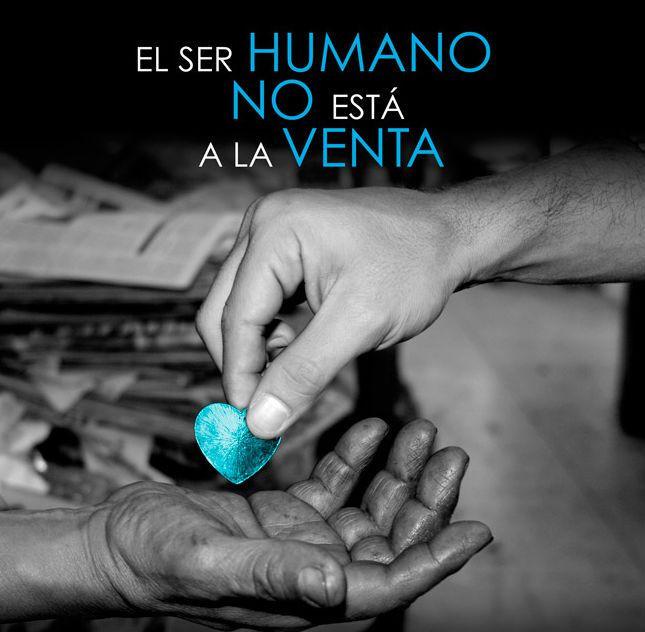 Imagen de la Campaña Corazón Azul contra la trata de personas.
