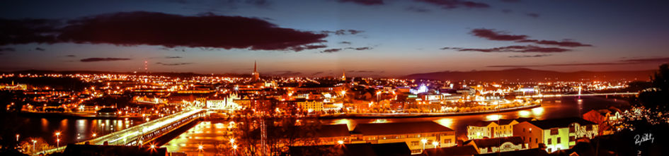 Derry City Nightime Panoramic
