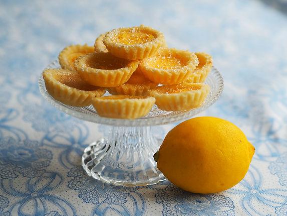 Mini Lemon Tarts with Pine Nuts