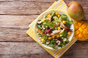 Chicken Mango and Pomegranate Salad - Clueless in Life Recipe