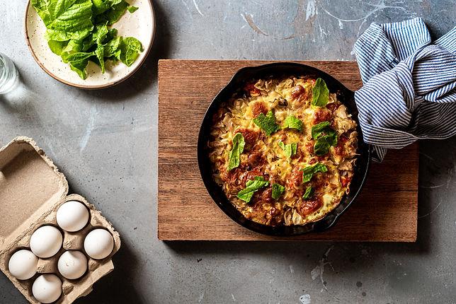 Easy High Protein Ham & Sage Frittata Recipe