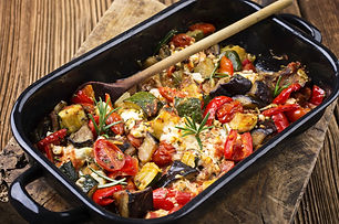 Roasted Mediterranean Vegetables with Feta Cheese