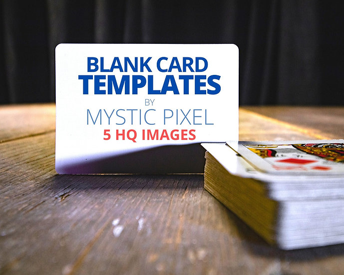 5 Blank Playing Card Image Templates for Magicians