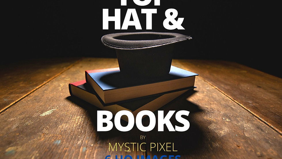 6 Magician Top Hat & Books Images