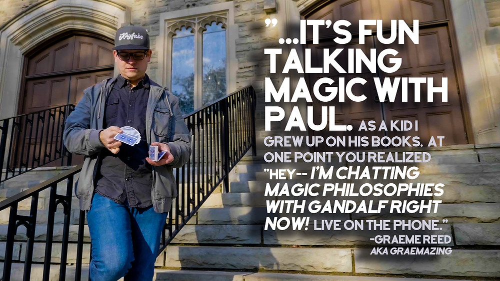 magician playing with cards on campus