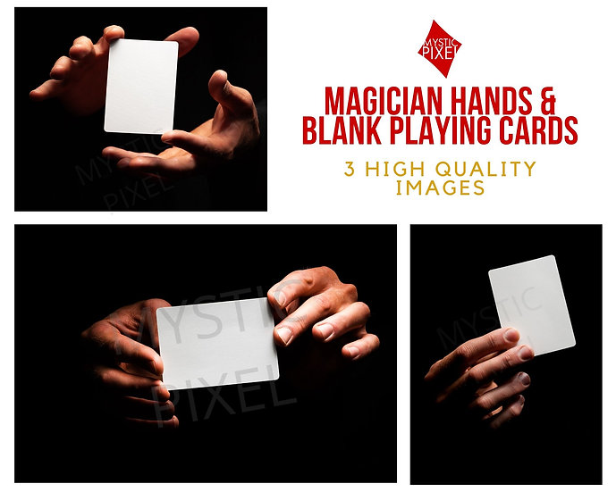 Magician Hands & Blank Playing Card Image