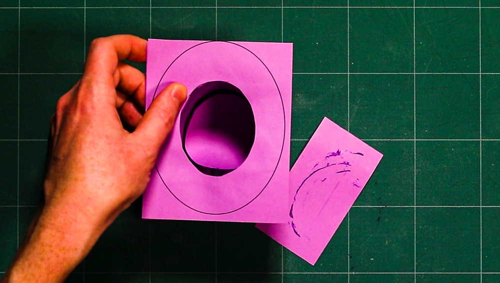magician top hat printable template being glued together