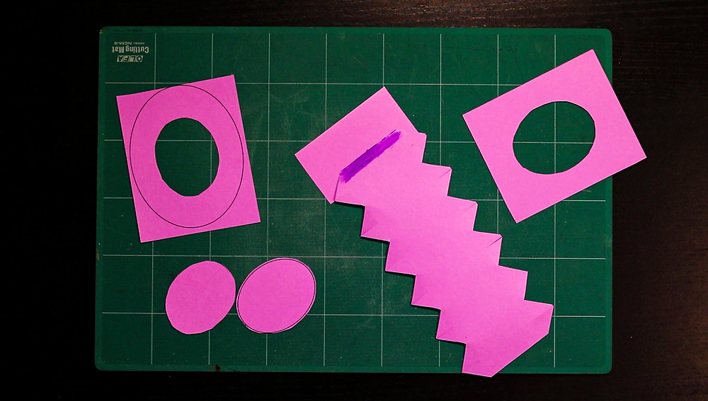 top hat paper template parts cut-out and add glue