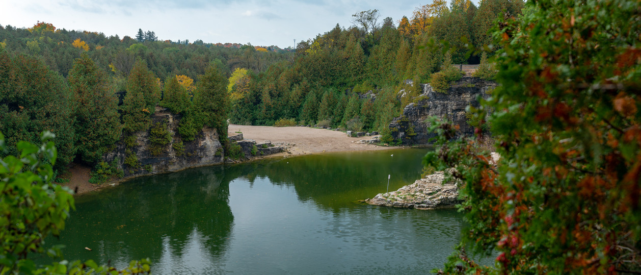 Elora quarry beach and swimming area